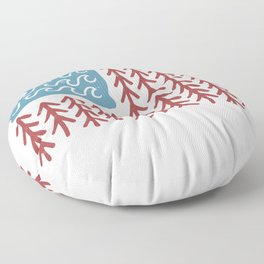 American flag from waves and trees USA Floor Pillow