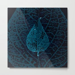 X-ray of a leaf Metal Print