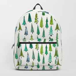 Lovely Hand-drawn Christmas Trees Pattern Backpack
