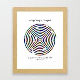 Umphrey's McGee All Good 2009 Poster Framed Art Print