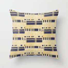 Painted Bands Throw Pillow