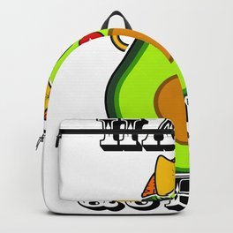 Hass Queen Cute Kawaii Avocado Diva Backpack