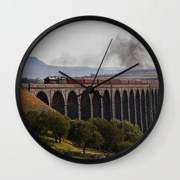 Scots Guardsman steaming over the Ribblehead Viaduct Wall Clock