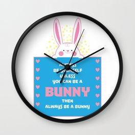 Bunny Pyjama Pun design I Sweet Rabbit Gift Wall Clock