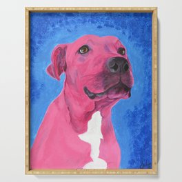 Pink Pitbull Serving Tray