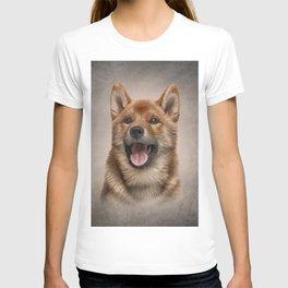 Drawing Japanese Shiba Inu dog  T-shirt