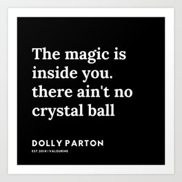 22   | 191120 | Dolly Parton Quotes Art Print