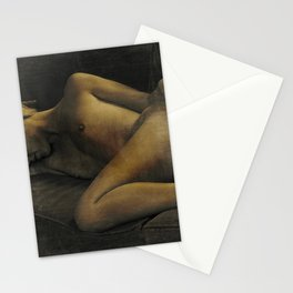 Julie Darling 0870 Rustic - Nude Nue ~ Textured Vintage  ~ Bodyscape of a Woman Stationery Cards