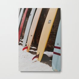 lets surf xxii / malibu beach, california Metal Print