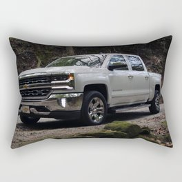 2018 White Pickup Truck Rectangular Pillow