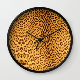 Brown Beige Leopard Animal Print Wall Clock