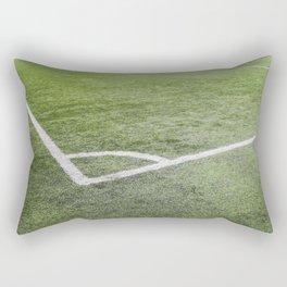 Corner football field, Corner chalk mark artificial grass soccer field Rectangular Pillow