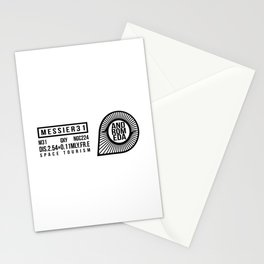 Space Tourism,Galaxy, Black logo Stationery Cards