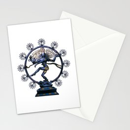 Shiva Nataraj, Lord of Dance (an actual factual fractal) Stationery Cards