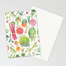 Spring Harvest Pattern Annotated Stationery Cards