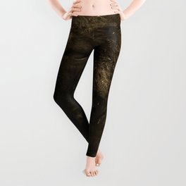 12,000pixel - 500dpi, High Quality Photograph - Bison Profile Leggings