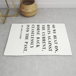 The Great Gatsby, Quote by F. Scott Fitzgerald Rug