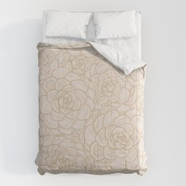 Sand and Succulents Comforters