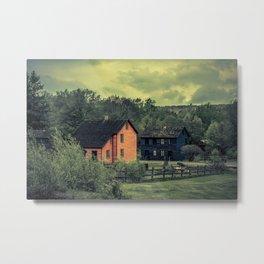 Historic Miners Village Coal Mining Town Pennsylvania Eckley Rural Living Metal Print