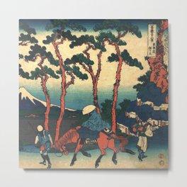 Hokusai -36 views of the Fuji 36 Hodogaya on the tokaido Metal Print