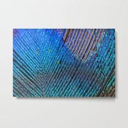 Impressive artificial peacock feather. Metal Print