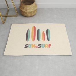 Sun & Surf Surfboards - Retro Rainbow Rug
