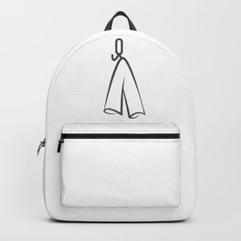 Towel on a hanger in bathroom and kitchen elements in Design Fashion Modern Style Illustration Backpack