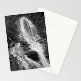 Waterfall, black and white photo Stationery Cards