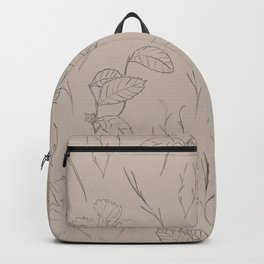 Line Art Leaf Pattern Backpack