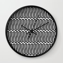 Super Black and White Liquorice laces Wall Clock