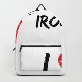 I Love Ironing Backpack