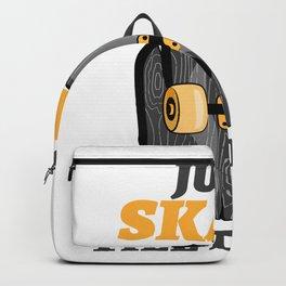 Skateboard Skater Skull just skate till death SK8 Backpack