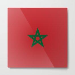Morocco: Moroccan Flag Metal Print