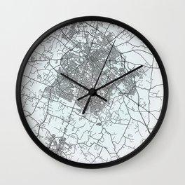 Lexington, KY, USA, White, City, Map Wall Clock