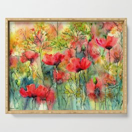 The Poppies Grow Serving Tray