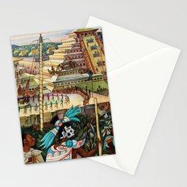 The Totonac Civilization or the Jaguar People in Veracruz, Palacio Nacional Mexico by Diego Rivera Stationery Cards