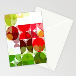 Red Rose with Light 1 Abstract Circles 3 Stationery Cards