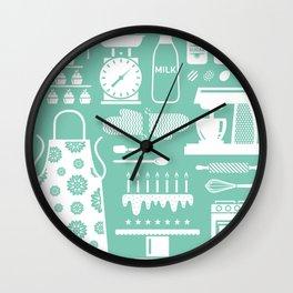 Baking Graphic Wall Clock