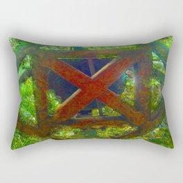 Rusted Cross Rectangular Pillow