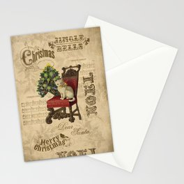 Vintage Christmas Cat Stationery Cards