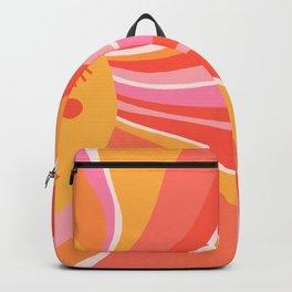 Sunshine Swirl – Pink & Peach Palette Backpack