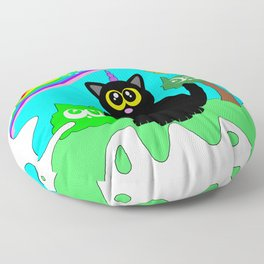 Kitty world! Floor Pillow