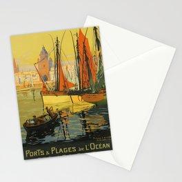 retro ETAT Ports Plages Ocean poster Stationery Cards