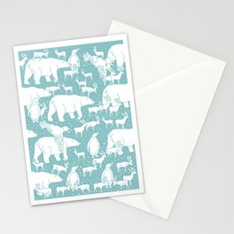 Polar gathering (peppermint) Stationery Cards