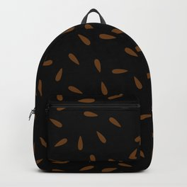 Brown Caramel Drops on Black Background Backpack