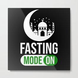 Fasting Mode On Ramadan Kareem Muslim Mosque Islam Metal Print
