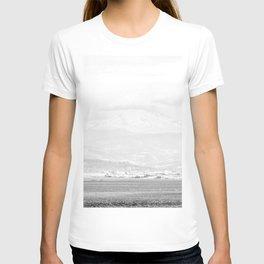 Lake to Peak // White Out Fog Mountain View Oregon Landscape Photograph T-shirt