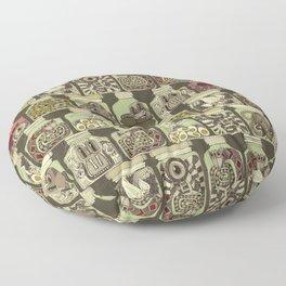 weird pickles vintage Floor Pillow