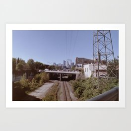 Washed out Minneapolis Art Print