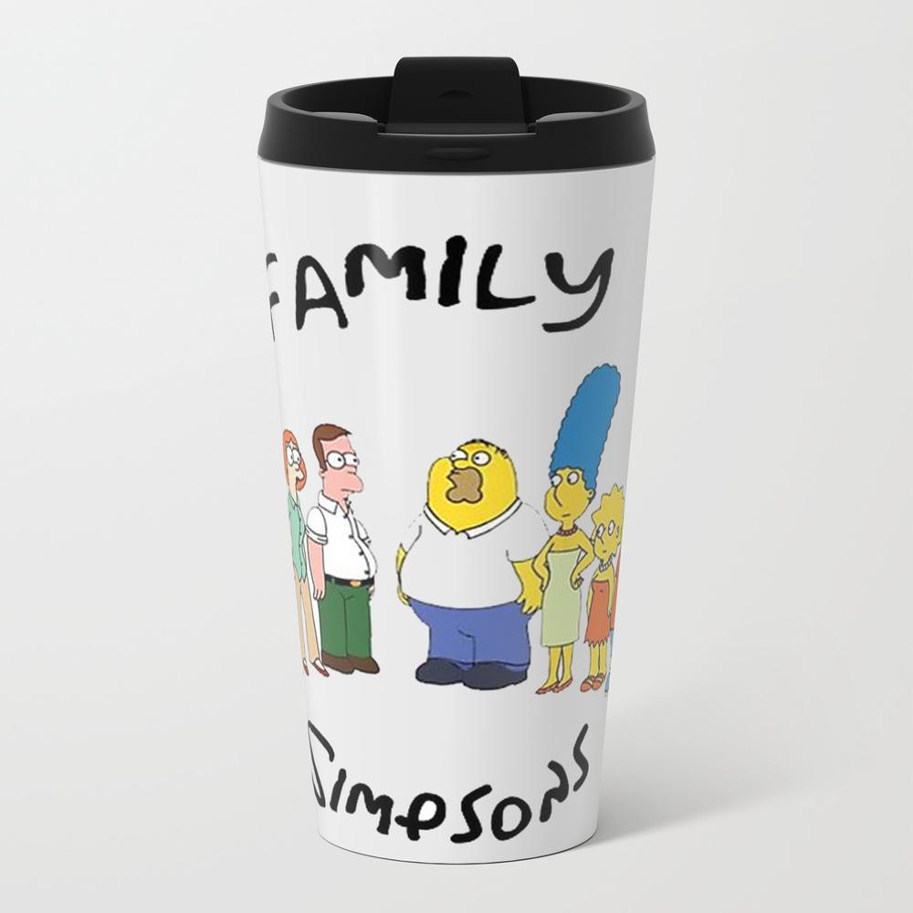 Family Simpson Metal Travel Mug by Thesurvive MTM7814119